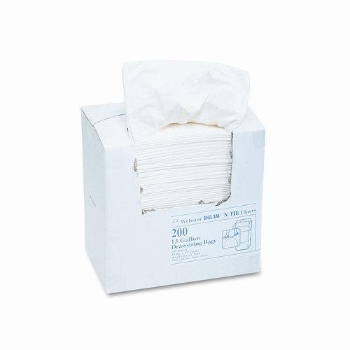 WEBSTER INDUSTRIES                                 Draw 'N Tie Heavy-Duty Trash Bags, 13Gal, .9 Mil, 24.5 X 27 3/8, 200/Box