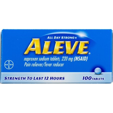 Aleve Pain Reliever/Fever Reducer Naproxen Sodium Tablets, 220 mg, 100 (Best Over The Counter Muscle Pain Reliever Cream)