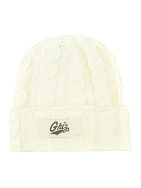 5aeb9b4f7679a Product Image NCAA Montana Grizzlies Griz Kiera Women Ladies Cuffed Crochet Beanie  Knit Hat