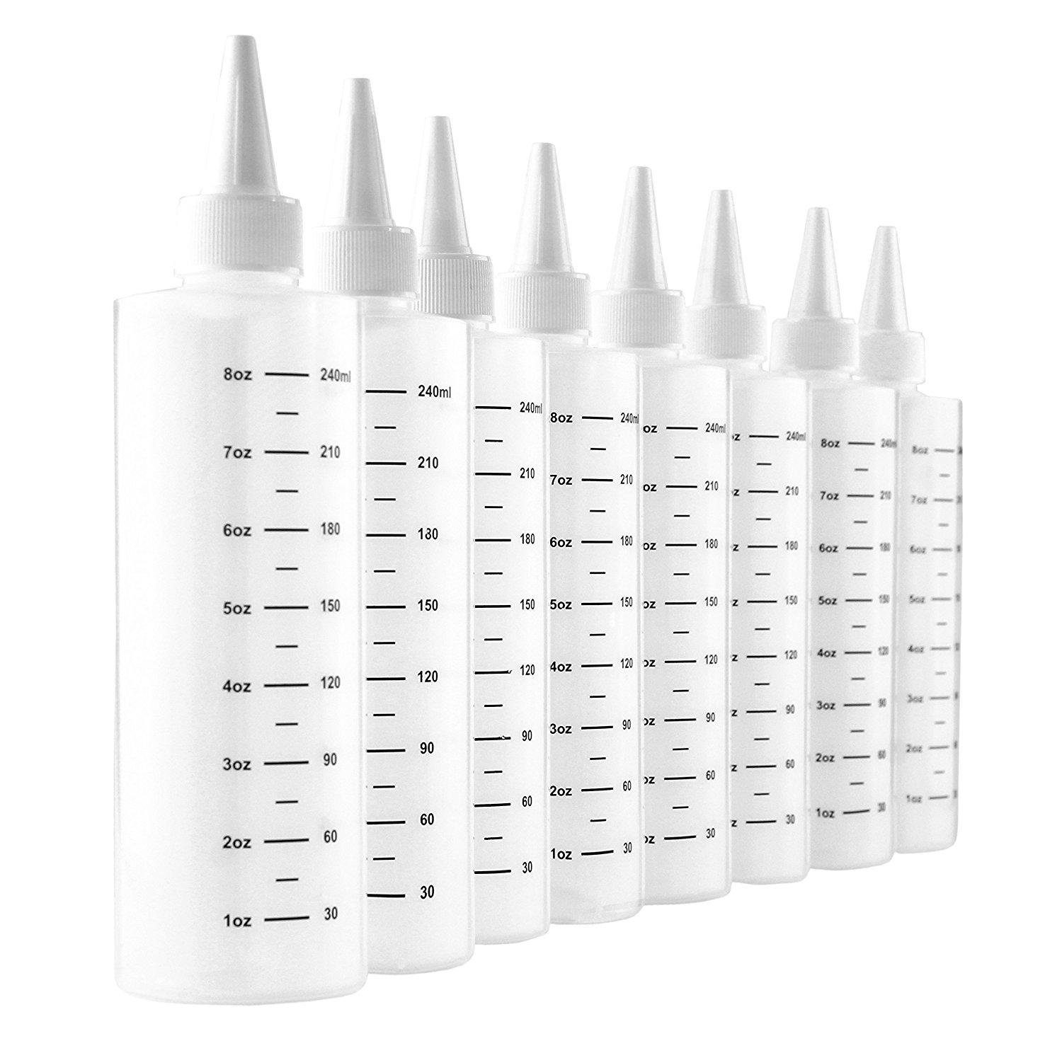 Cookie Decorating Squeeze Bottles Pleasing 8Ounce Plastic Squeeze Bottles With Graduated Measurements 8 Inspiration