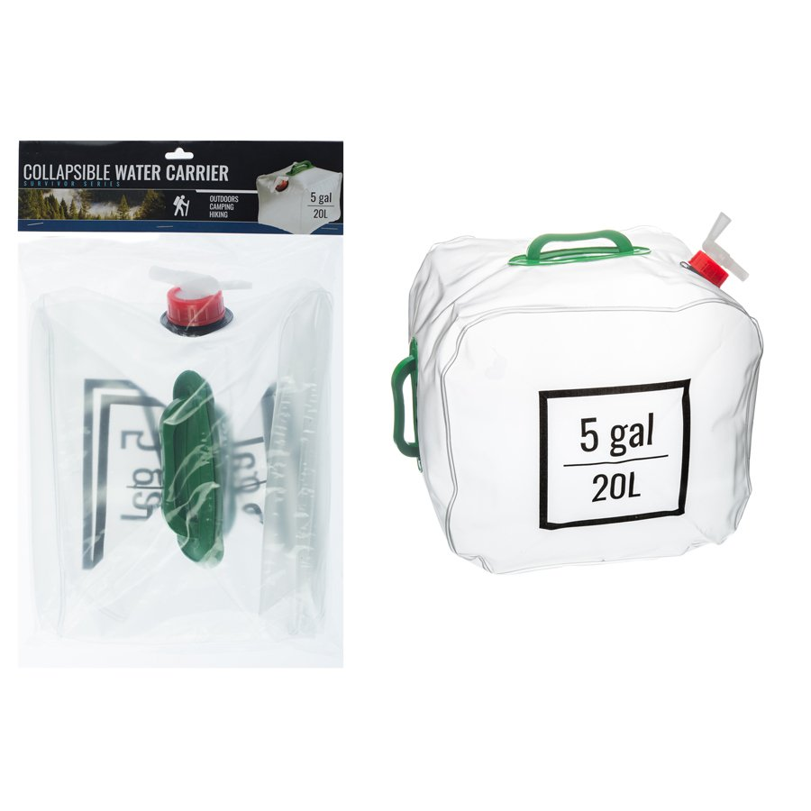 ASR Outdoor Collapsible Water Carrier with Handle 5 Gallon Hiking Camping