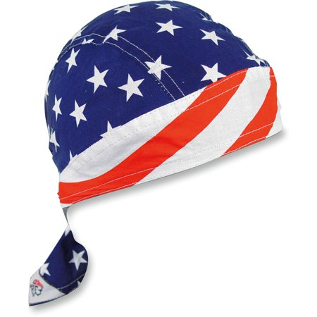 Flydanna Stars - Zan Headgear Flydanna Headwrap Stars & Stripes (Blue, OSFM)