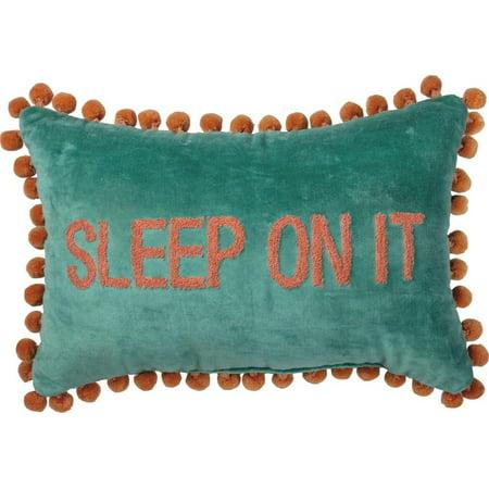 PRIMITIVES BY KATHY Sleep On It Velvet Pillow in Blue Green