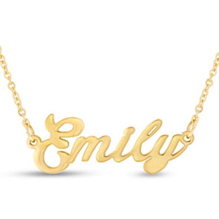Emily Nameplate Necklace In - White Gold Nameplate