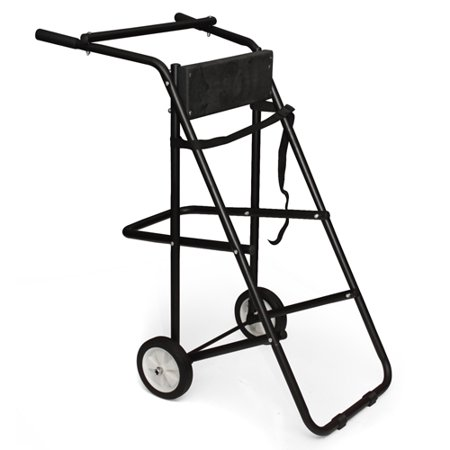 Best Choice Products 130lb Outboard Boat Motor Carrier, Cart, Dolly, Stand- Black