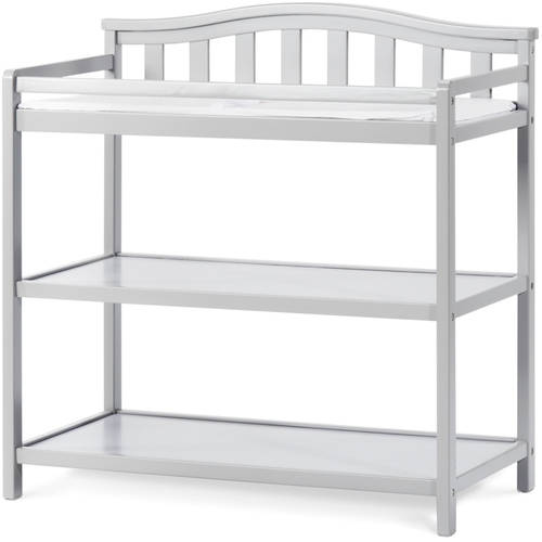 Child Craft Arched Top Dressing Table, Cool Gray
