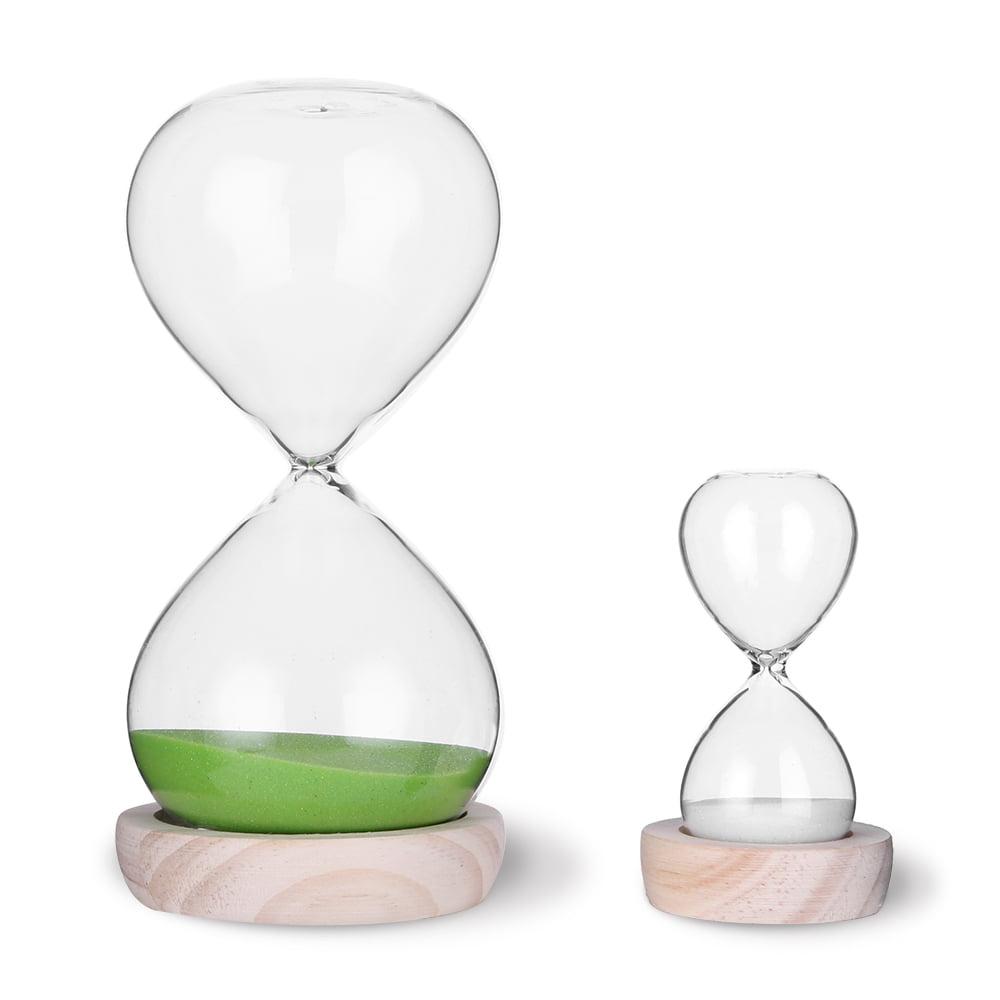viseman hourglass sand timer set-30 minute  u0026 5 minute timer sets