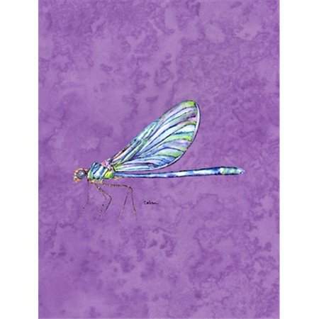 Carolines Treasures 8866CHF 28 x 40 In. Dragonfly On Yellow Flag Canvas, House Size - image 1 de 1