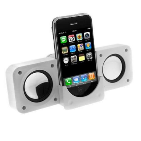 White Portable Folding Stereo Mini Speaker for Microsoft Zune 120GB, Zune 16GB, Zune 80GB, Zune 4GB 8GB, Zune 30GB, Zune HD 32 GB, Zune HD 16 GB.., By GTMax,USA