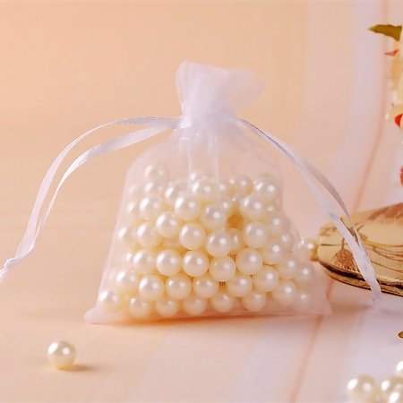 fashionhome 60pcs Mesh Design Candy Bag Drawstring Pouch Wedding Party Gift Bag Yarn Satin Organza Favour Pouch - image 4 of 8