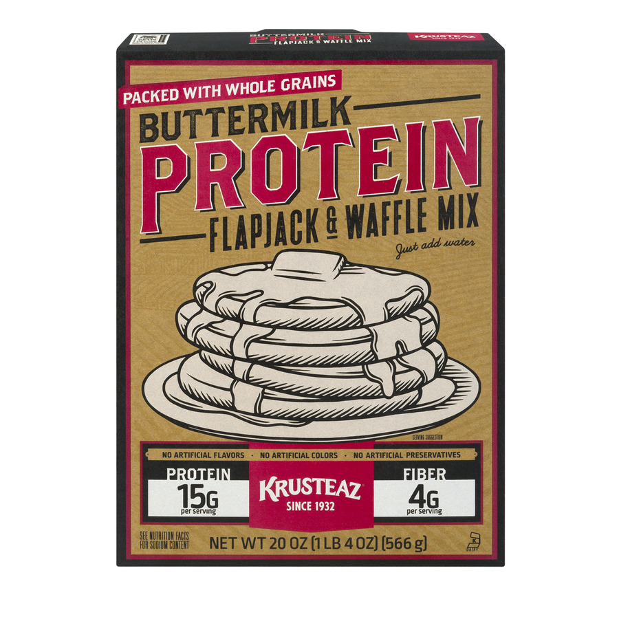 Krusteaz Complete Pancake Mix Buttermilk Protein, 20.0 OZ