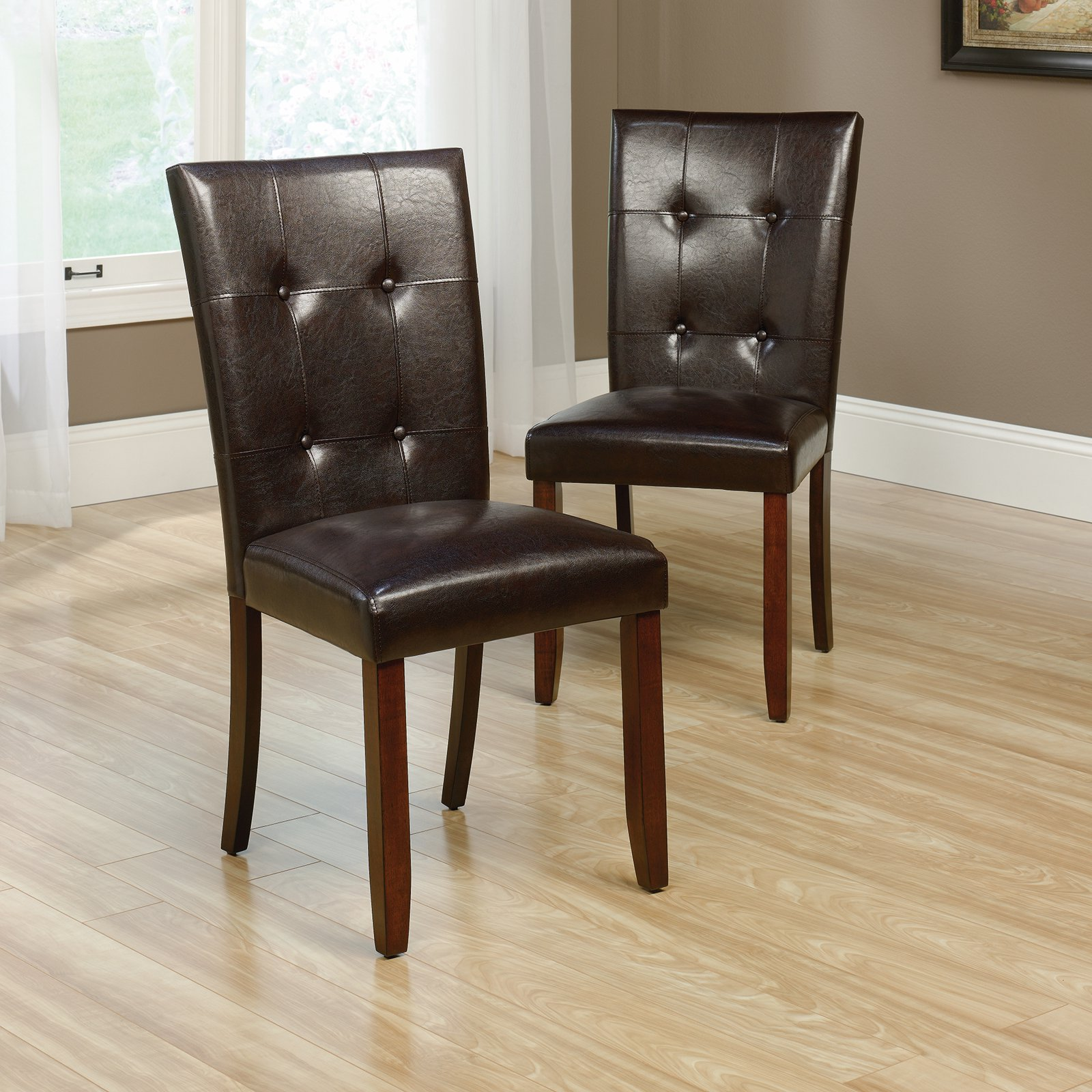 Sauder Palladia Parsons Chairs, 2 Pack, Select Cherry Finish