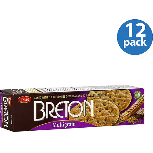 Dare Breton Multigrain Crackers, 8.8 oz, (Pack of 12)