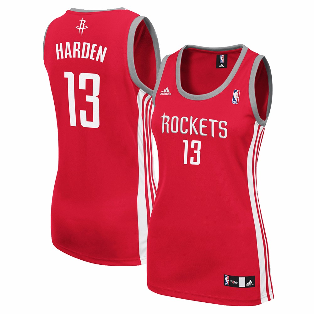 James Harden Houston Rockets NBA Adidas Women's Red Replica Jersey