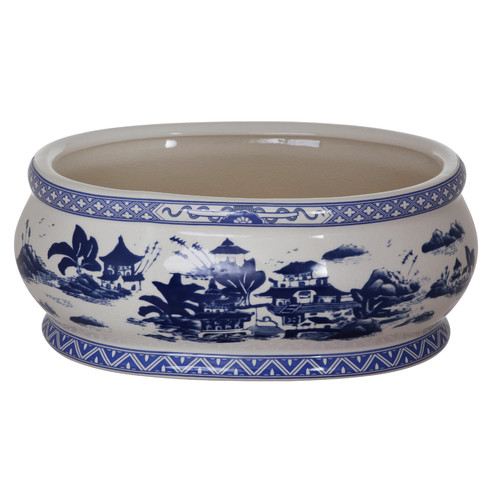 Winward Designs China Village Oval Pot Planter