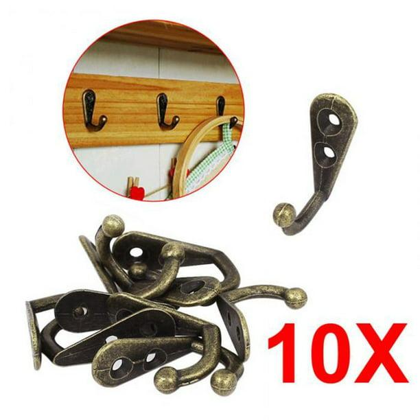 10x Wall Mounted Metal Hook Antique Door Hanger Rack Key Cloth Coat Hanging Hook