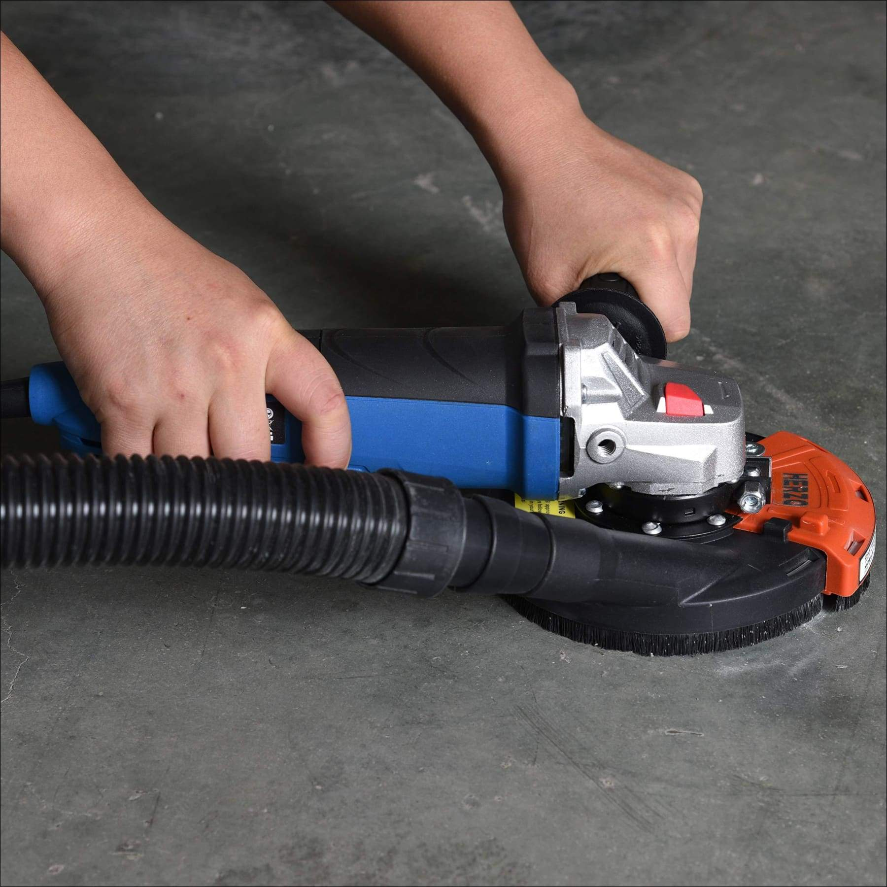 HERZO Universal Surface Grinding Dust Shroud for Angle Grinder 7 Inch