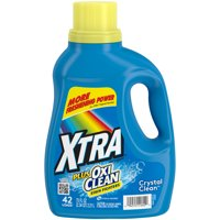 Xtra Plus OxiClean Liquid Laundry Detergent, Crystal Clean, 75oz