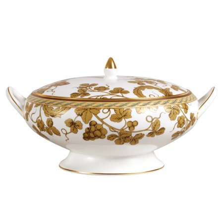 Wedgwood Golden Bird 9-3/4-Inch Covered Vegetable Bowl ()