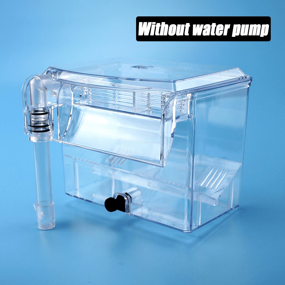Fish Tank Breeding Hatchery Incubator Aquarium Breeder Isolation Hang Box Pump