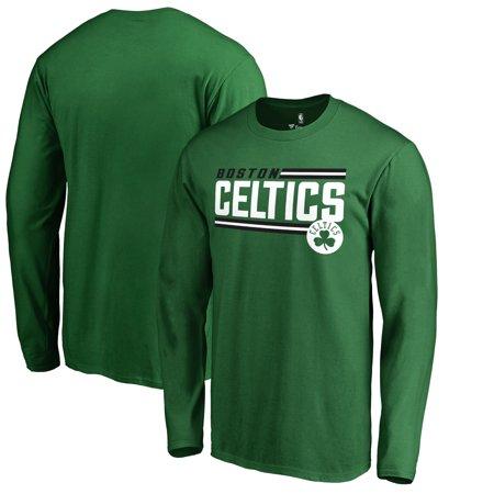 Boston Celtics Kelly Green (Boston Celtics Fanatics Branded Onside Stripe Wordmark Long Sleeve T-Shirt - Kelly Green )