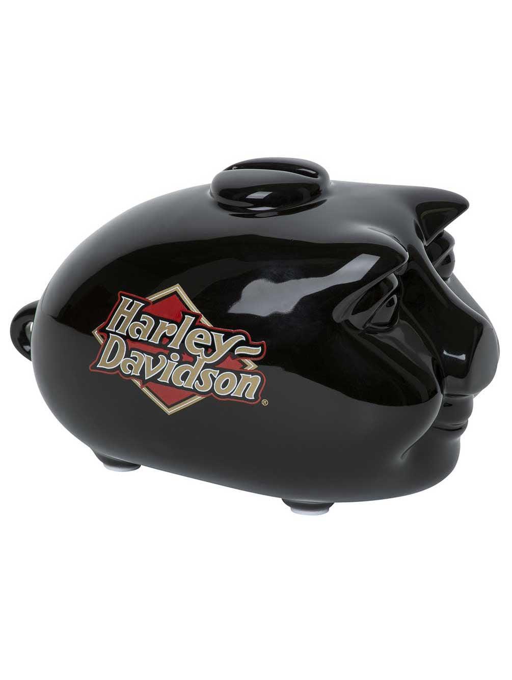 Harley-Davidson® Mini Hog Piggy BankGloss Black Ceramic HDX-99103