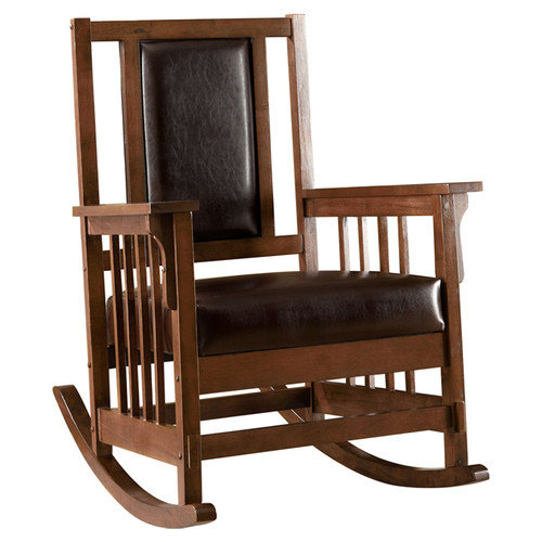 Hokku Designs Valley Leatherette Arm Rocking Chair