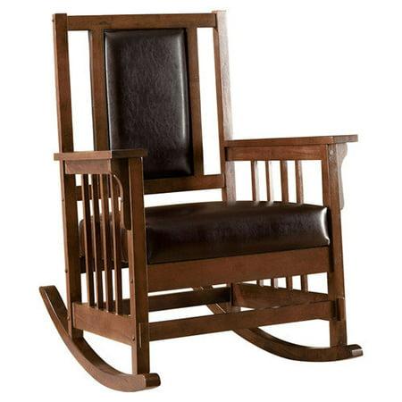 Hokku Designs Valley Leatherette Arm Rocking Chair - Walmart.com