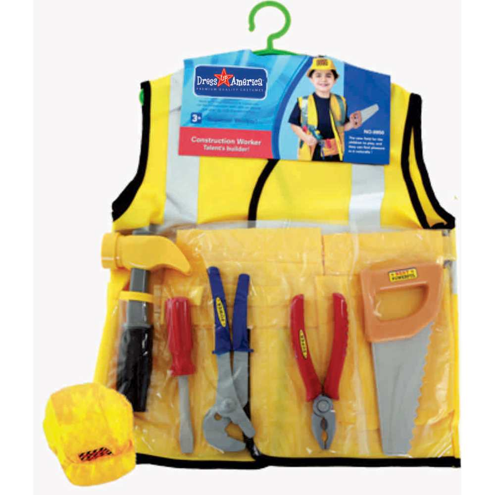 Construction Worker Role Play Kids Costume