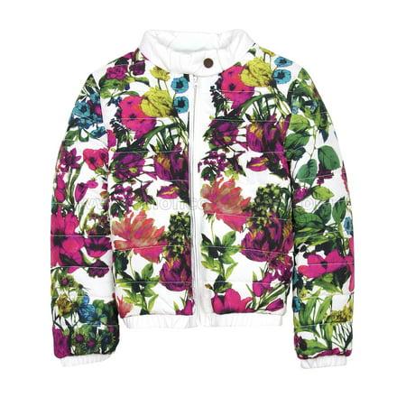 Deux par Deux Girls' Quilted Jacket Rose Ballad, Sizes 7-12 - 8 - image 2 of 2