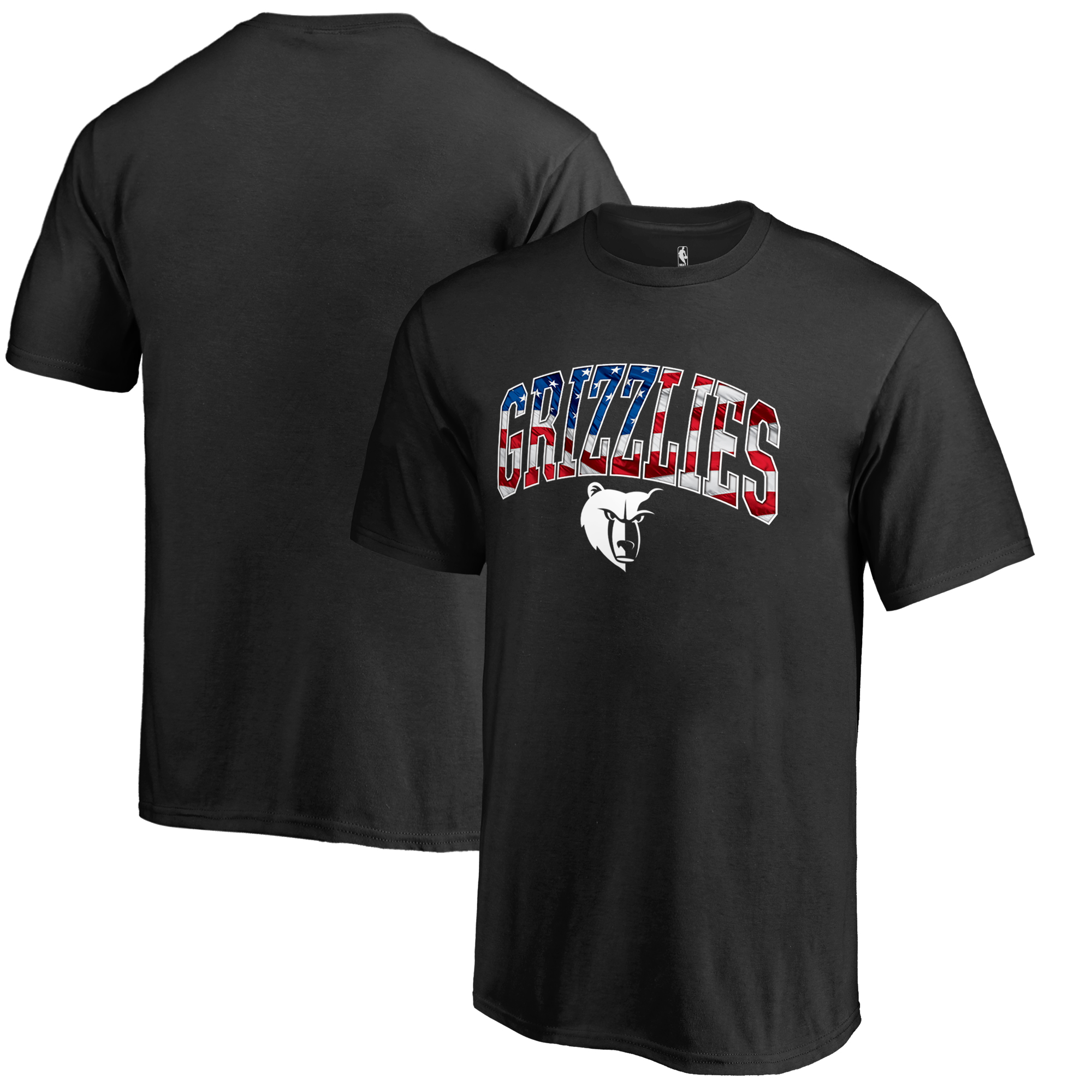 Memphis Grizzlies Youth Banner Wave T-Shirt - Black