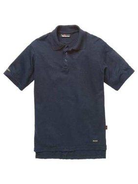 WORKRITE FR Short Sleeve Shirt,Navy,XLT,Button 263TK67NB