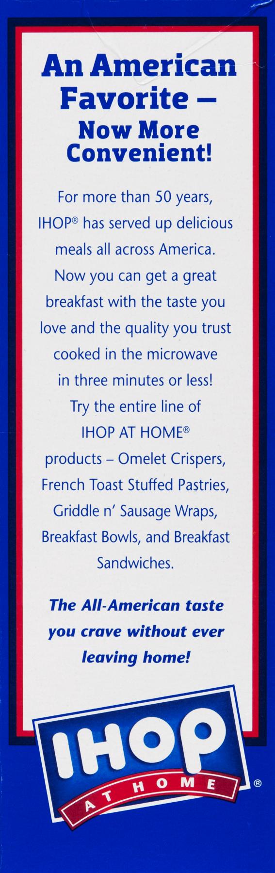 Golden County Foods IHOP At Home Breakfast Sandwich, 4 ea - Walmart.com