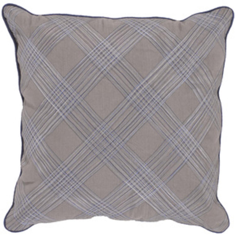 "18"" Gray Shadow Decorative Pillow Down Filler"