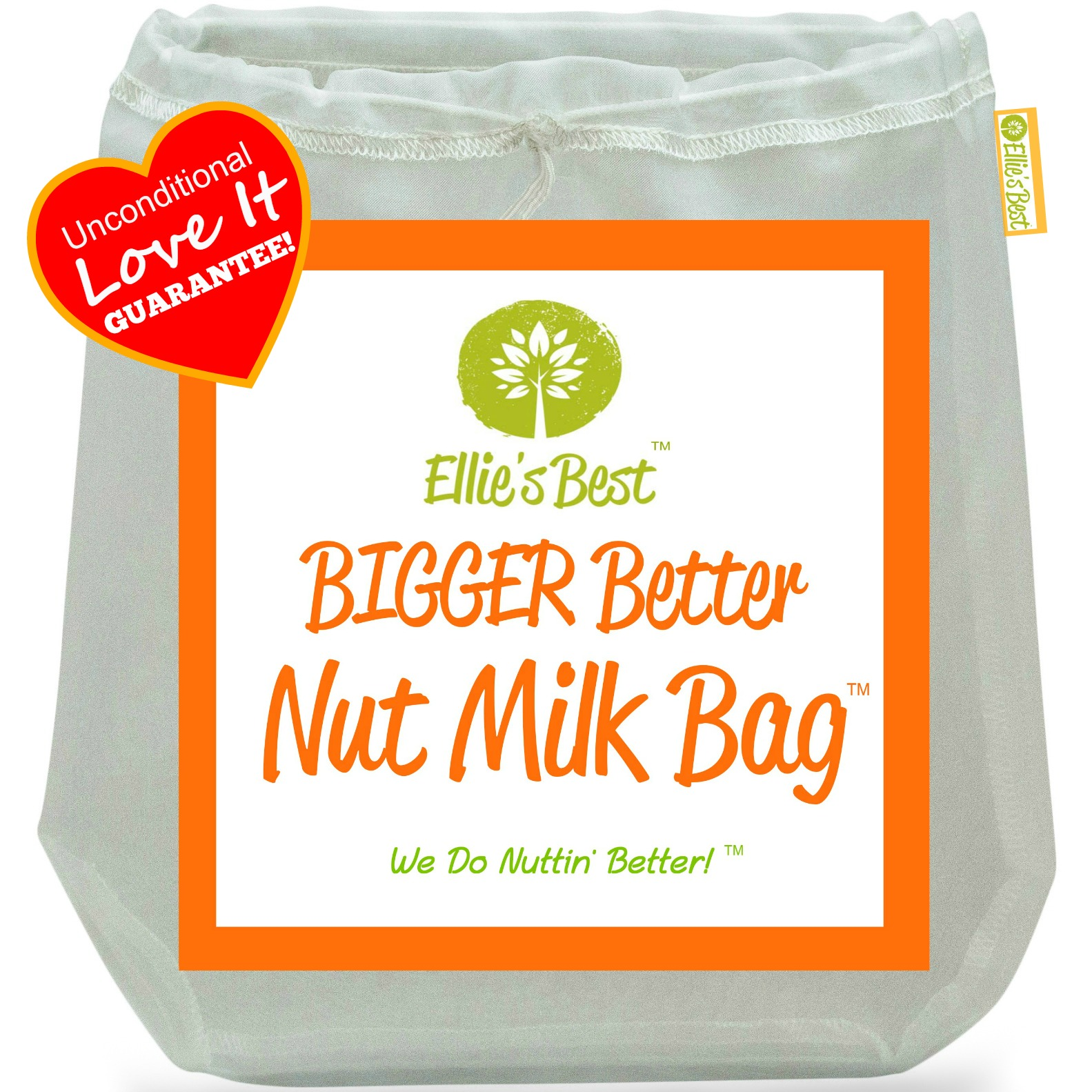 "Pro Quality Nut Milk Bag Big 12""X12"" Commercial Grade Reusable Almond Milk Bag & All Purpose Food Strainer Fine Mesh Nylon... by"