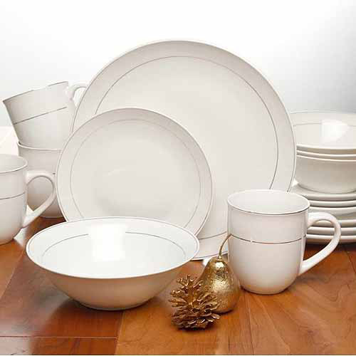 Gibson Home Channing Metal-Banded 16-Piece Dinnerware Set & Gibson Home Channing Metal-Banded 16-Piece Dinnerware Set - Walmart.com