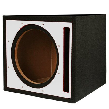 Absolute USA PSEB10S Single 10-Inch Ported Subwoofer Enclosure with Silver High Gloss Face