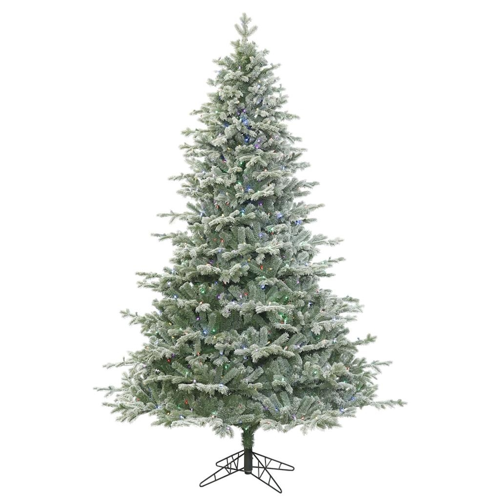 "12 Ft Pre Lit Christmas Tree Costco: 5.5' X 48"" Frosted Denton Spruce Tree"