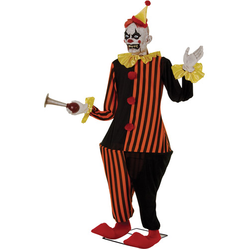 6' Life-Size Animated Evil Halloween Clown Decoration