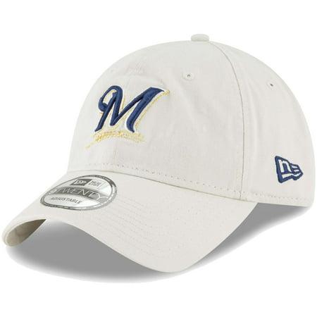 Milwaukee Brewers New Era Core Classic Twill 9TWENTY Adjustable Hat - Tan - (Single Soft Heat Brewer)