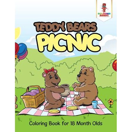 Teddy Bears Picnic : Coloring Book for 18 Month Olds - Halloween Teddy Bear Coloring Pages