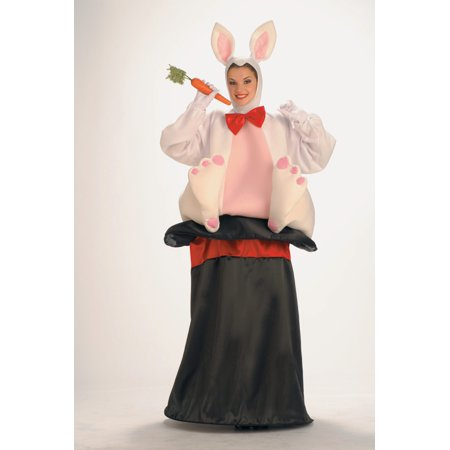 Magic Hat Rabbit Adult Halloween Costume, 1 Size (Rabbit Halloween Costumes)