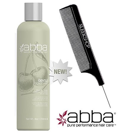 ABBA GENTLE Conditioner Leave-in Conditioner or Daily Rinse (w/ Comb) - 8