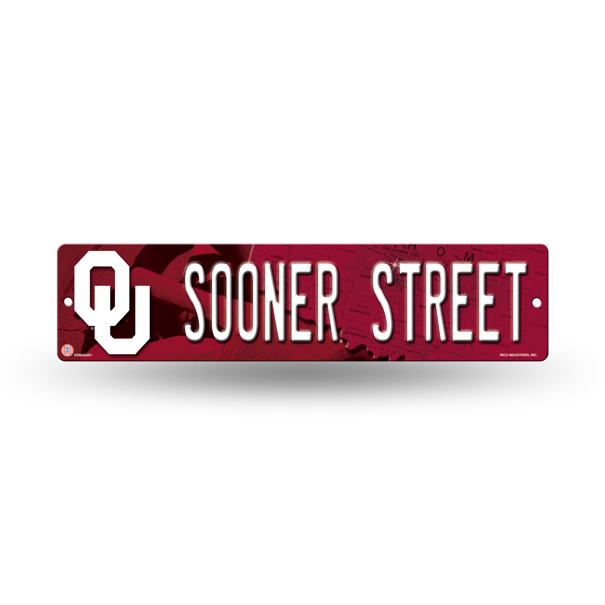 Oklahoma Sooners Official NCAA 16 inch x 4 inch  Plastic Street Sign by Rico