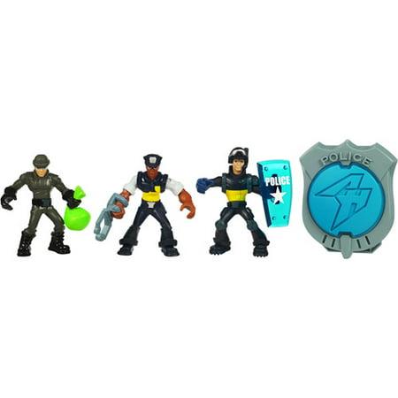 Playskool adventure heroes police mini figurine pack - Playskool helmet heroes police officer ...