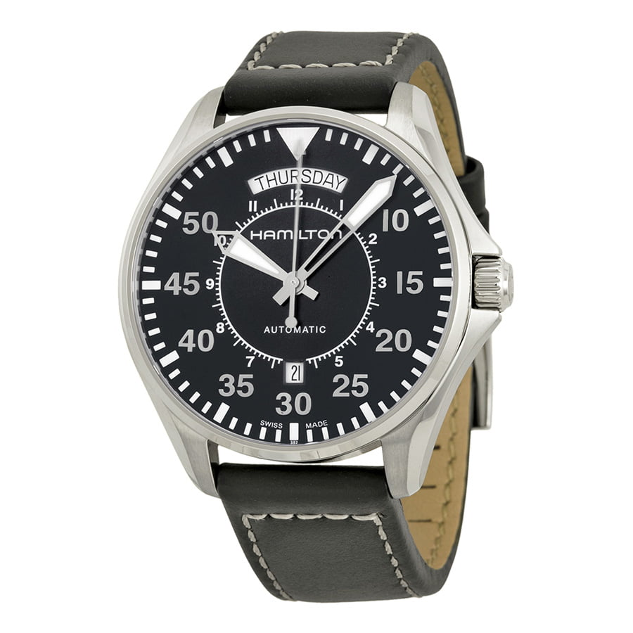 Hamilton Khaki Pilot Automatic Black Dial Mens Watch H64615735 by Hamilton