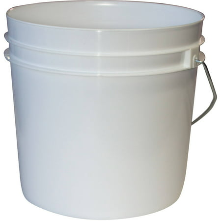 Argee 1 Gallon White Bucket, 10-Pack