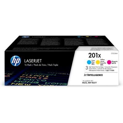 HP 201X 3-pack High Yield Cyan/Magenta/Yellow Original LaserJet Toner Cartridges - Laserjet 2300 Series Yield