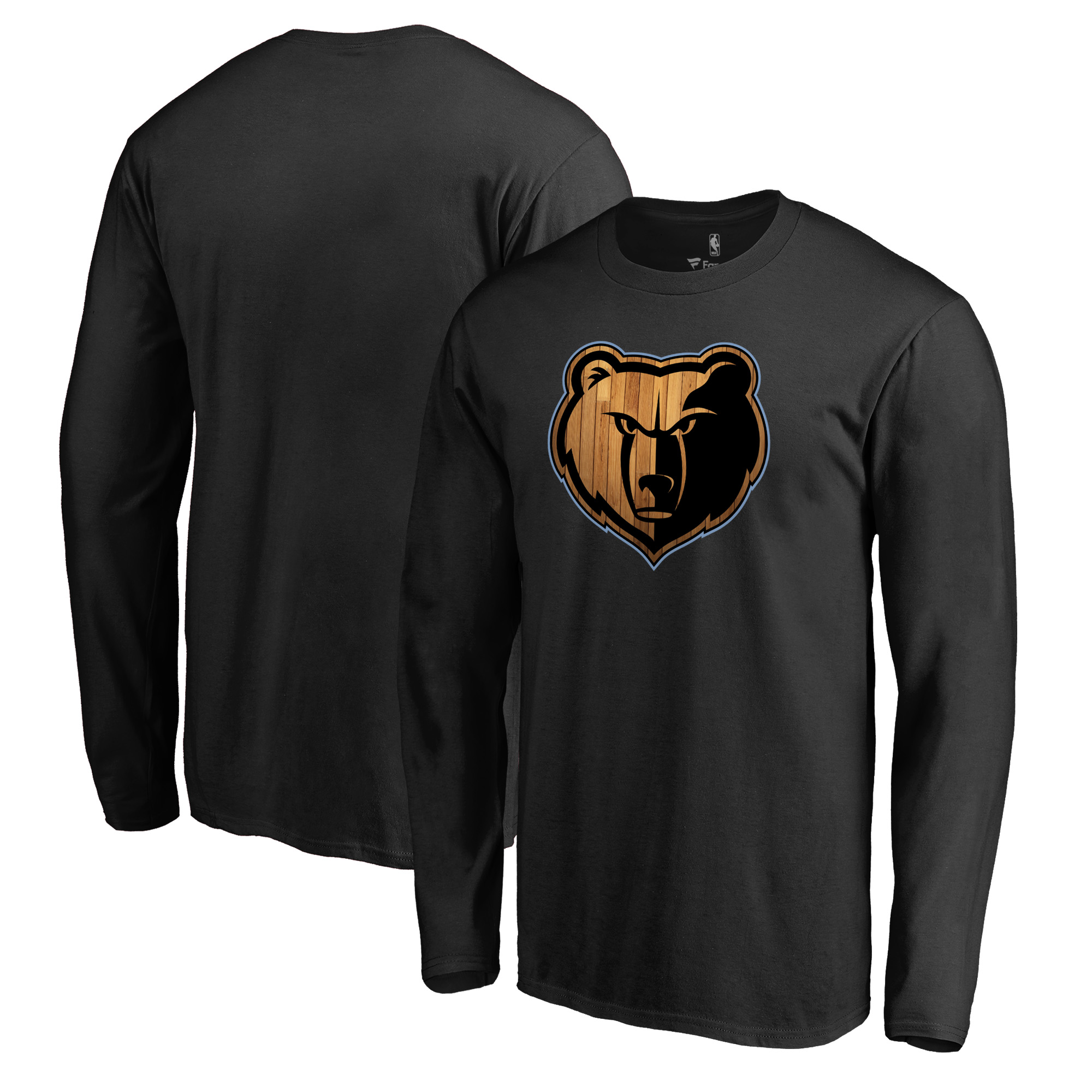Memphis Grizzlies Fanatics Branded Hardwood Long Sleeve T-Shirt - Black