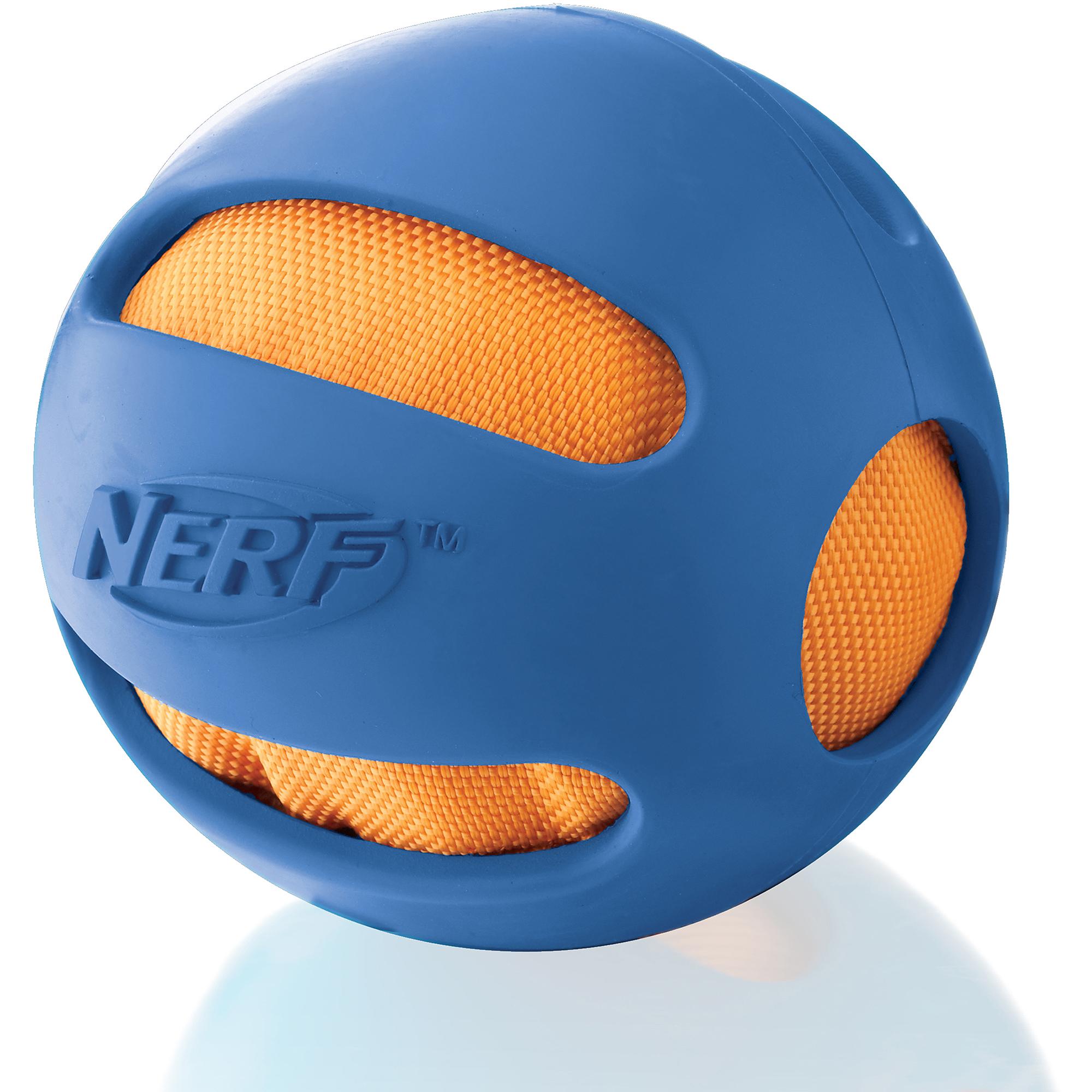 """Nerf 4"""" Pet Crinkle Ball, Blue"""